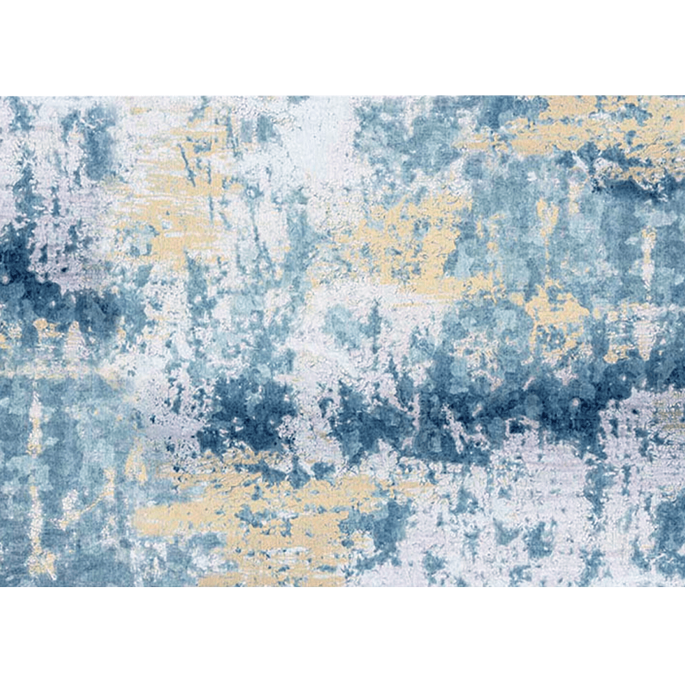 Szőnyeg, kék/szürke/sárga, 160x230, MARION tip 1
