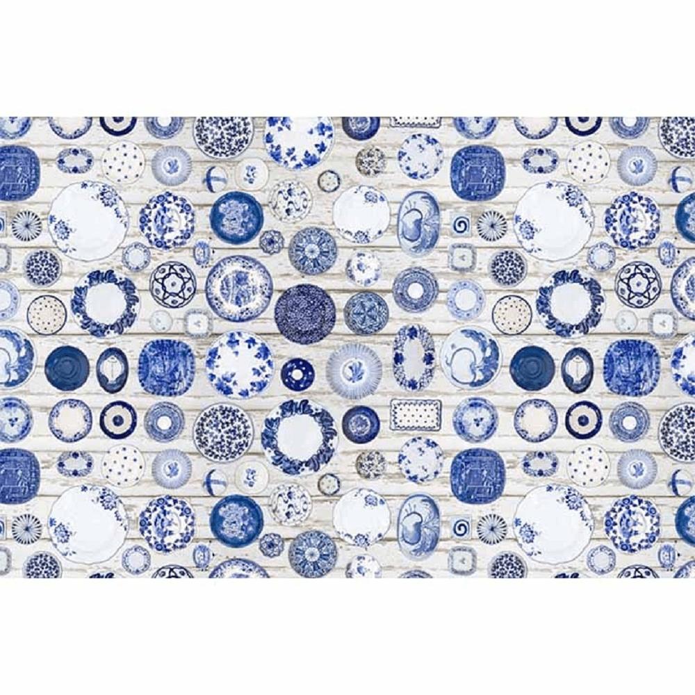Szőnyeg, kék/krém, 80x200, PARLIN
