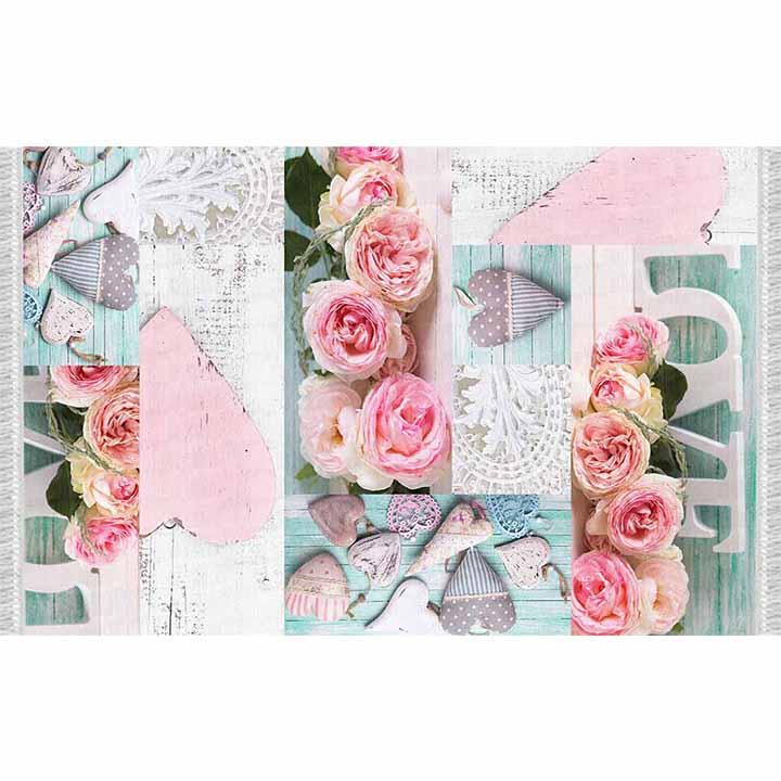 Koberec, vzor ruže, 80x150, SONIL TYP 2