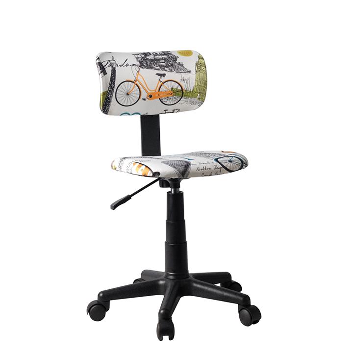 Otočná stolička, látka vzor, KIDS