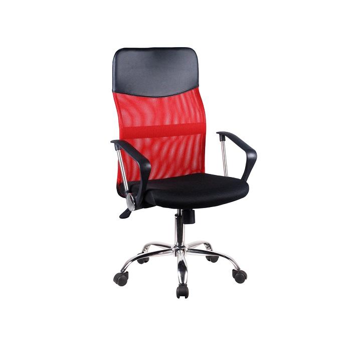 Kancelárske kreslo, červená, TC3-973M 2 NEW, na bielom pozadí