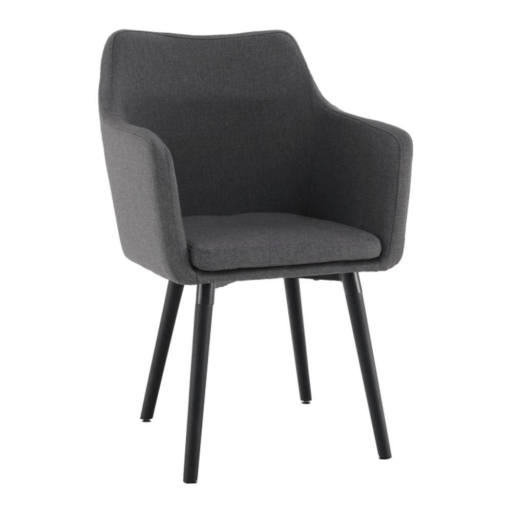 Étkező fotel, szürkésbarna/fekete, DABIR