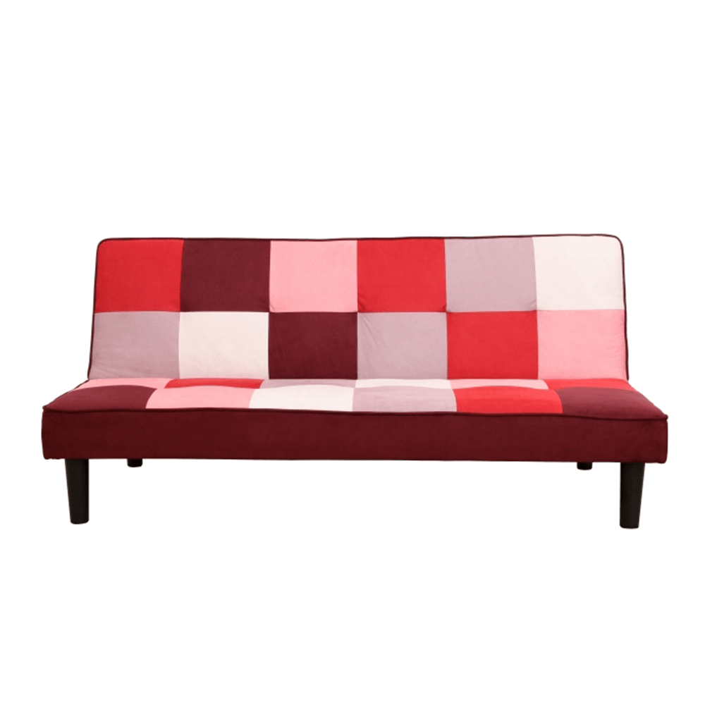 Szófa, anyag piros/fehér, ARLEKIN