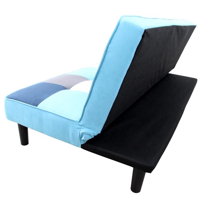 Pohovka, látka biela/modrá/sivá, detail na pohovku, ARLEKIN
