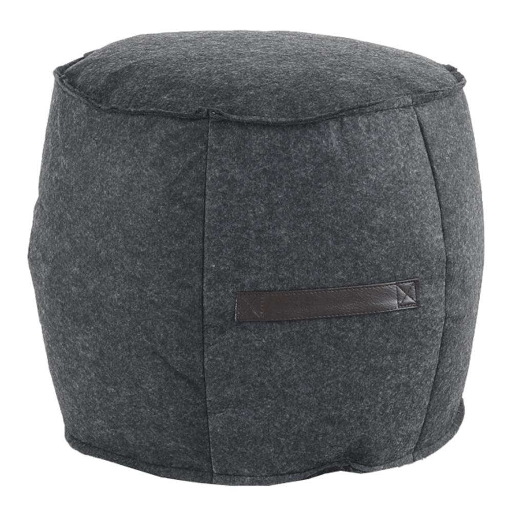 Taburet, material textil gri/maro, RAGIN