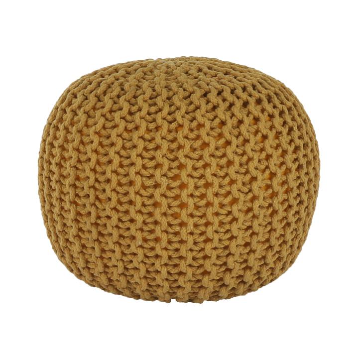 Taburet tricotat, bumbac muştar, GOBI TIP 2