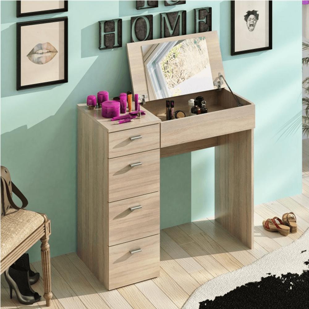 Toaletný stolík, toaletka, dub sonoma, BELINA