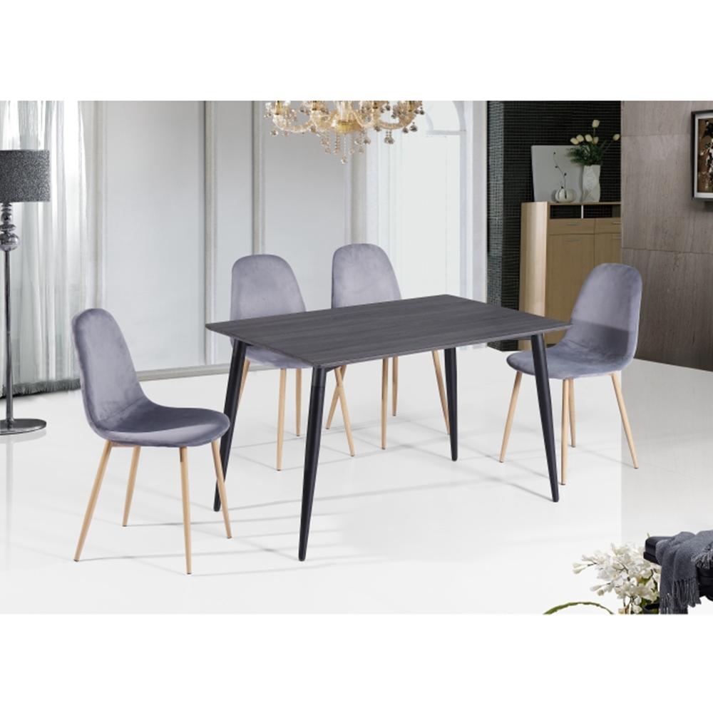 Étkezőasztal, MDF/fekete, KABOR