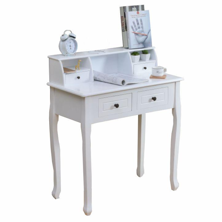 Măsuţă de toaletă/toaletă, alb, RODES
