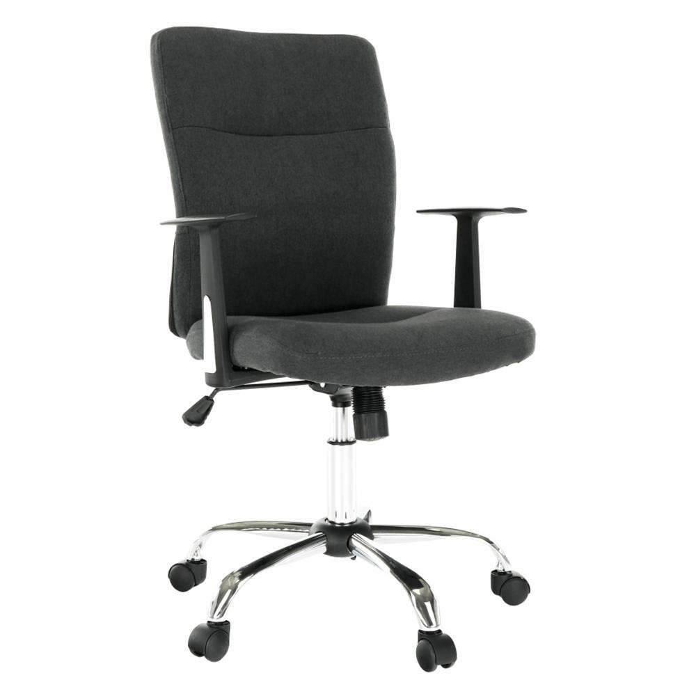 Irodai szék, sötétszürke/krómozott, TIBOLD