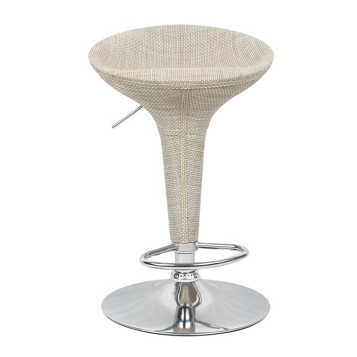 Barová stolička, ratan/béžový, TURID