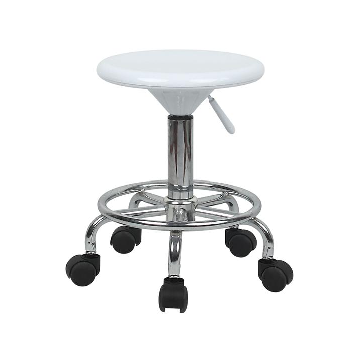Stolička, biela/chróm, na bielom pozadí, MABEL 2 NEW