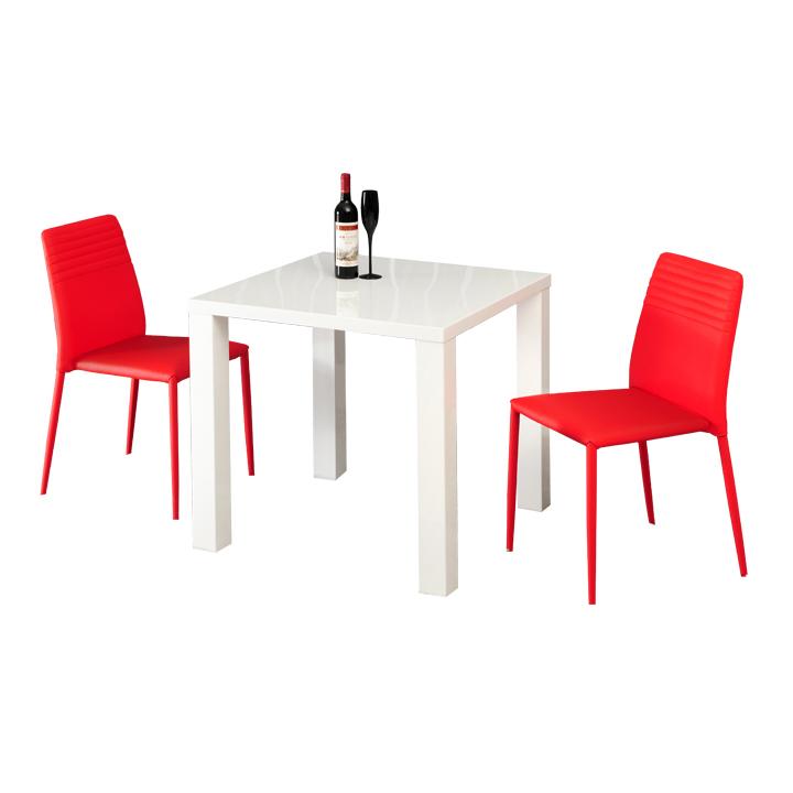 Jedálenský stôl, biela vysoký lesk HG, ASPER TYP 5