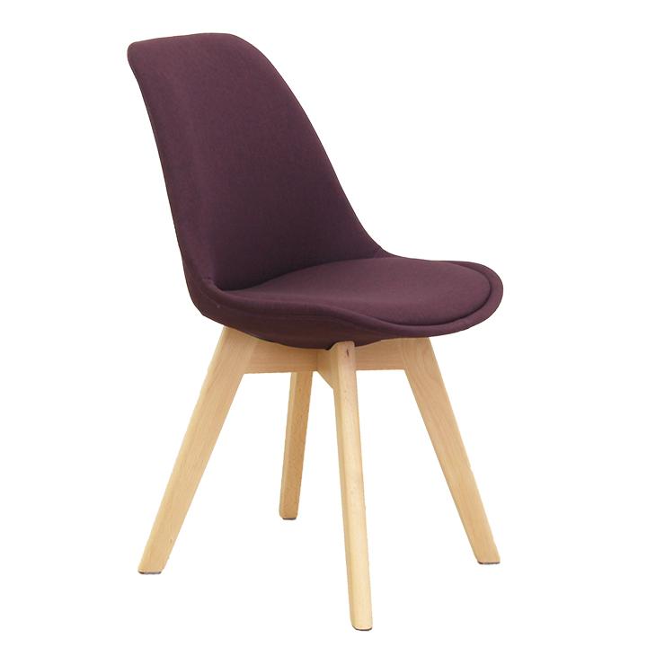 Stolička, fialová/buk, na bielom pozadí, LORITA