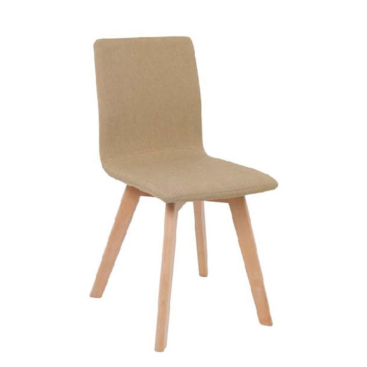 Stolička, piesková/buk, na bielom pozadí, LODENA