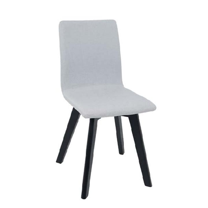 Stolička, svetlosivá/čierna, na bielom pozadí, LODENA