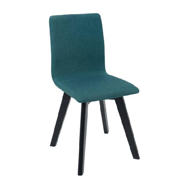 Stolička, zelená/čierna, LODEMA