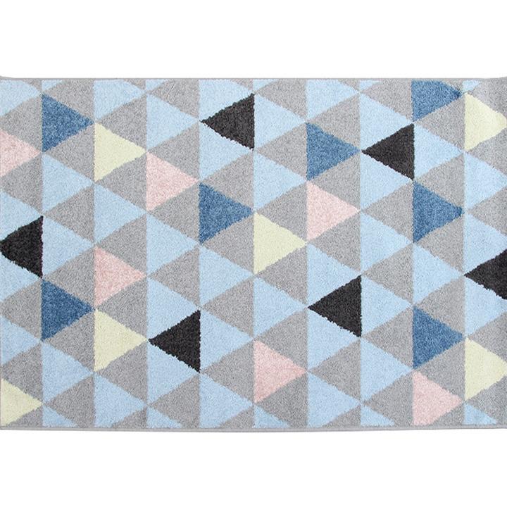 Koberec, viacfarebný, 67x120, PETAL, na bielom pozadí