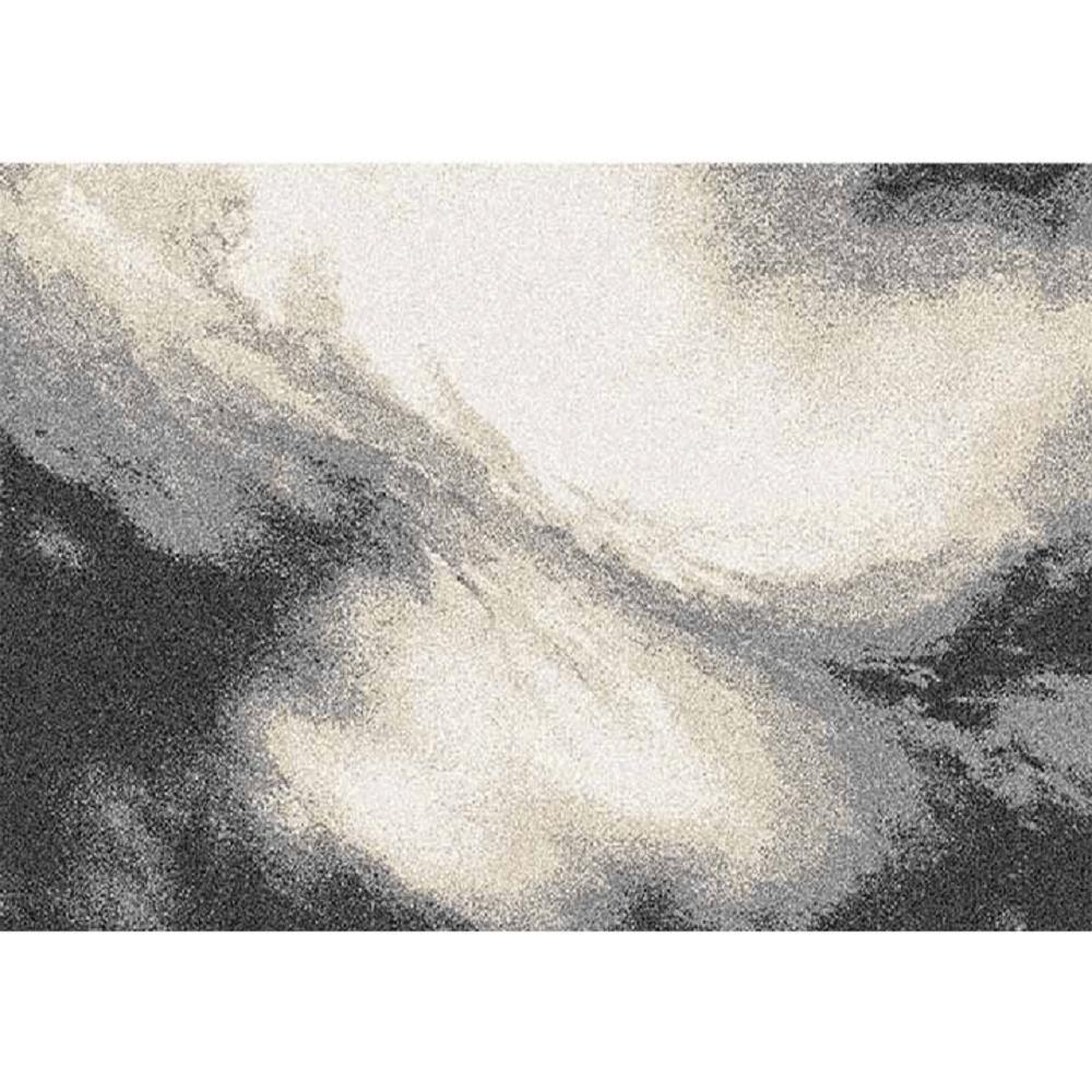 Szőnyeg, fehér/barna/fekete, 67X120, TOCAR