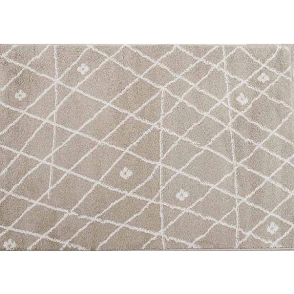 Covor 67x120 cm, bej/alb, TYRON
