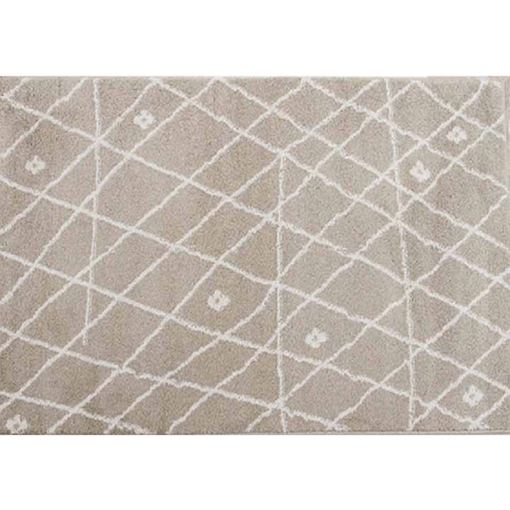 Covor 160x235 cm, bej/alb, TYRON