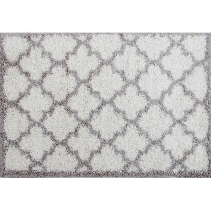 Koberec, krémová/sivá, 100X150, TATUM TYP 1, na bielom pozadí