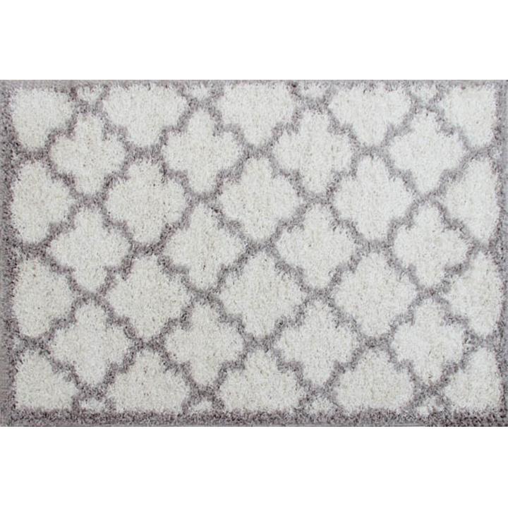 Koberec, krémová/sivá, 67x120, TATUM TYP 1