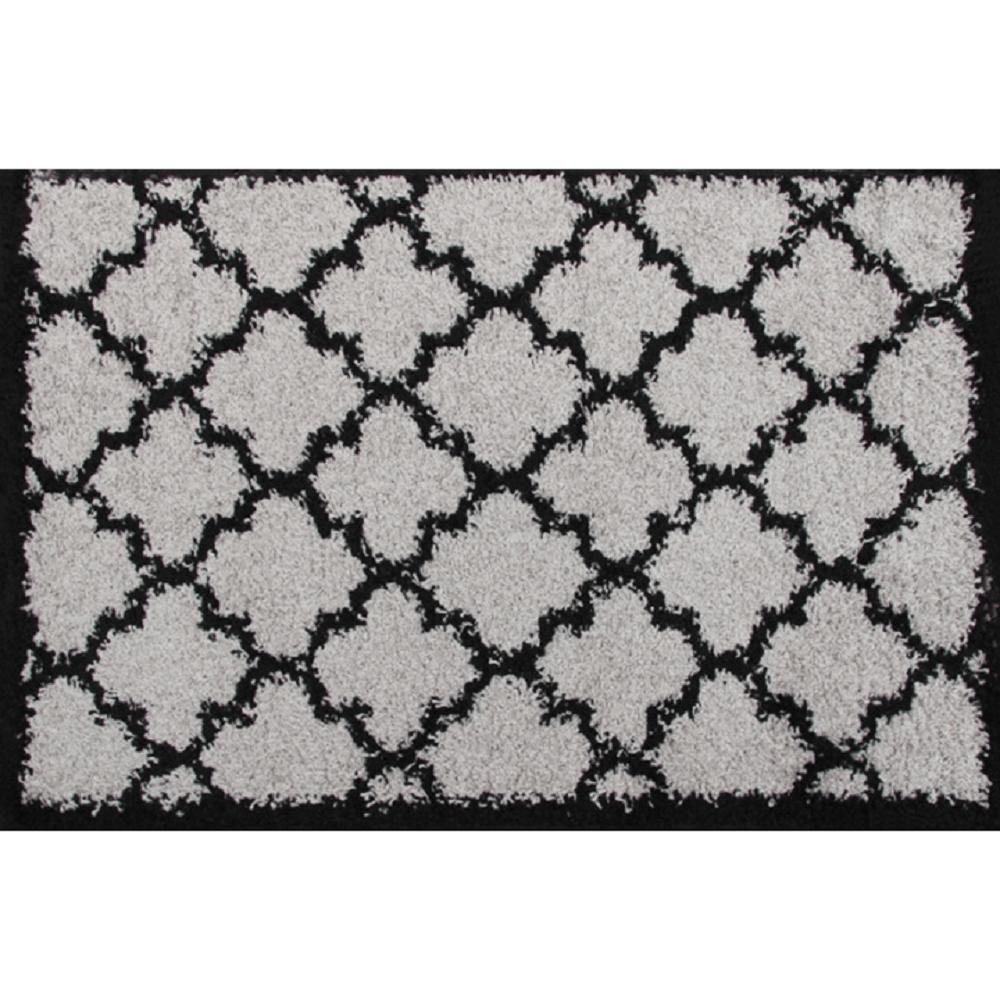 Szőnyeg, szürke/fekete, 100x150, TATUM TIP 2