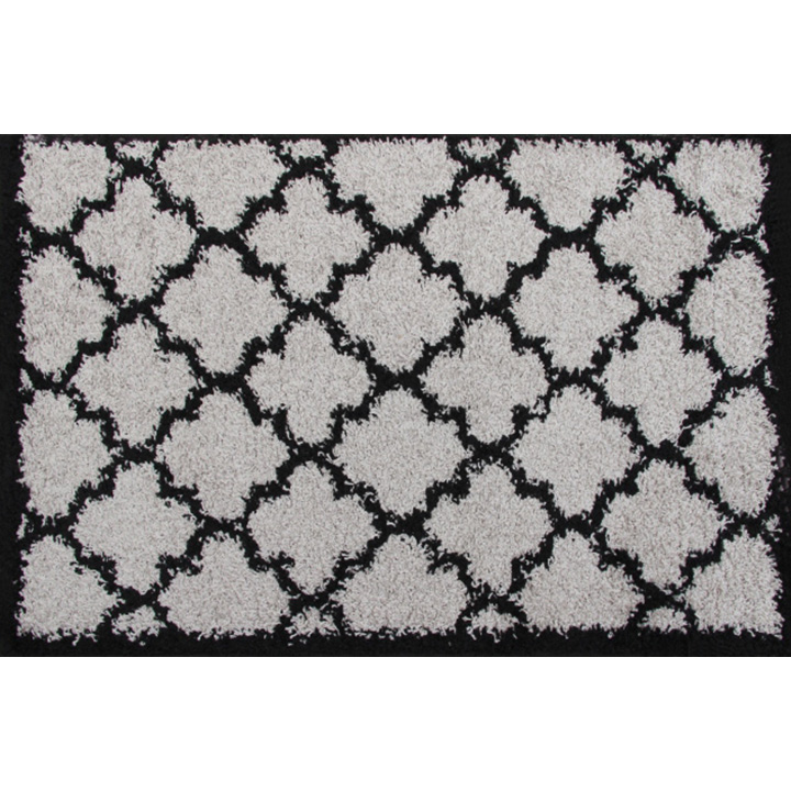 Koberec, sivá/čierna, 67x120, TATUM TYP 2
