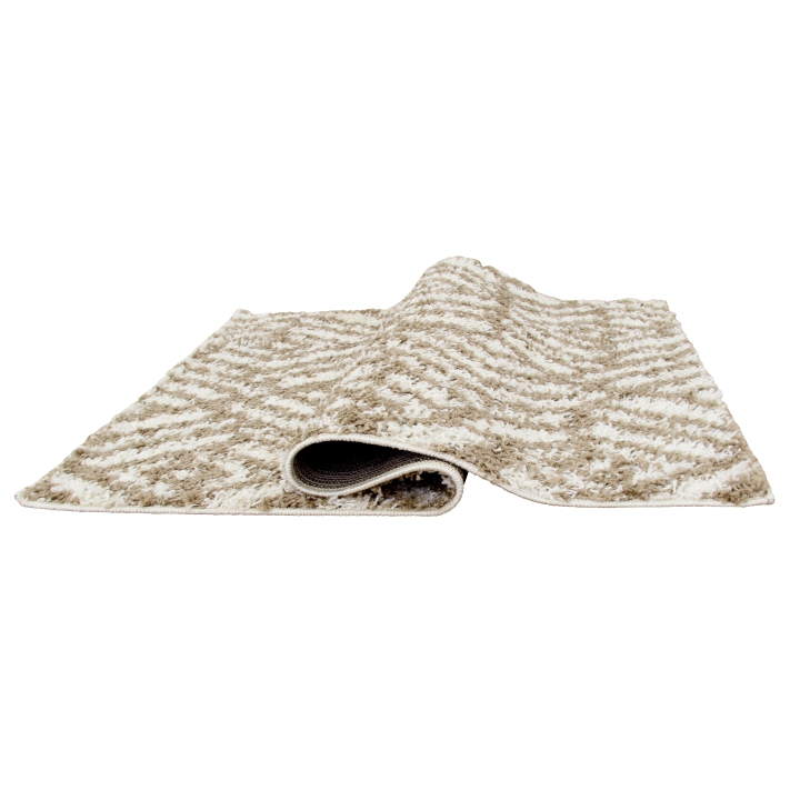 Koberec, krémová/béžová, 100x150, SAMARA, prehyb