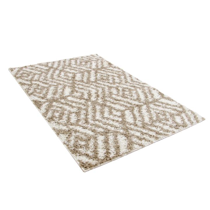 Koberec, krémová/béžová, 100x150, SAMARA, na bielom pozadí