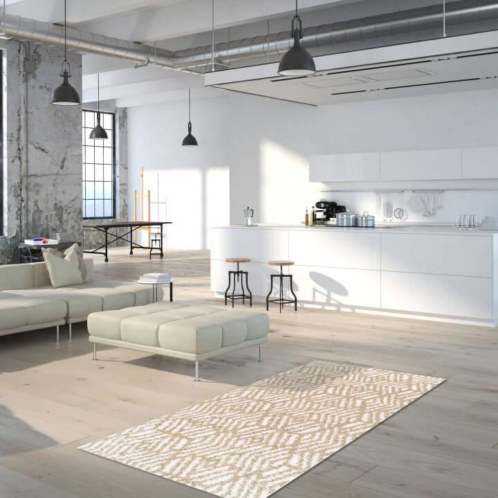 Koberec, krémová/béžová, 100x150, SAMARA, interiér