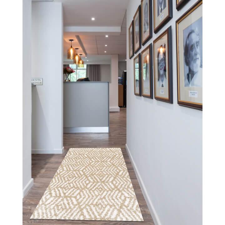 Koberec, krémová/béžová, 100x150, SAMARA, koberec v interiéri