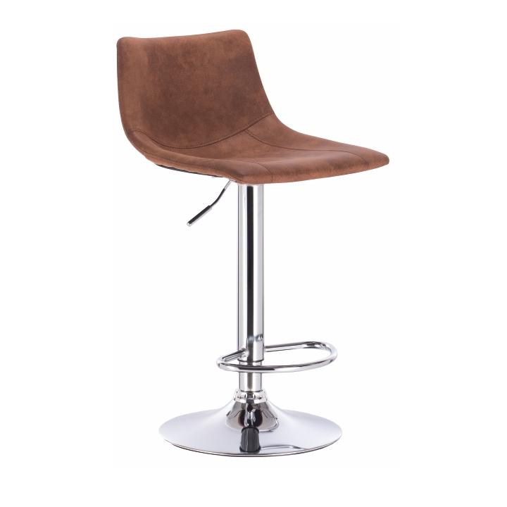 Barová stolička, hnedá/kov, LENOX