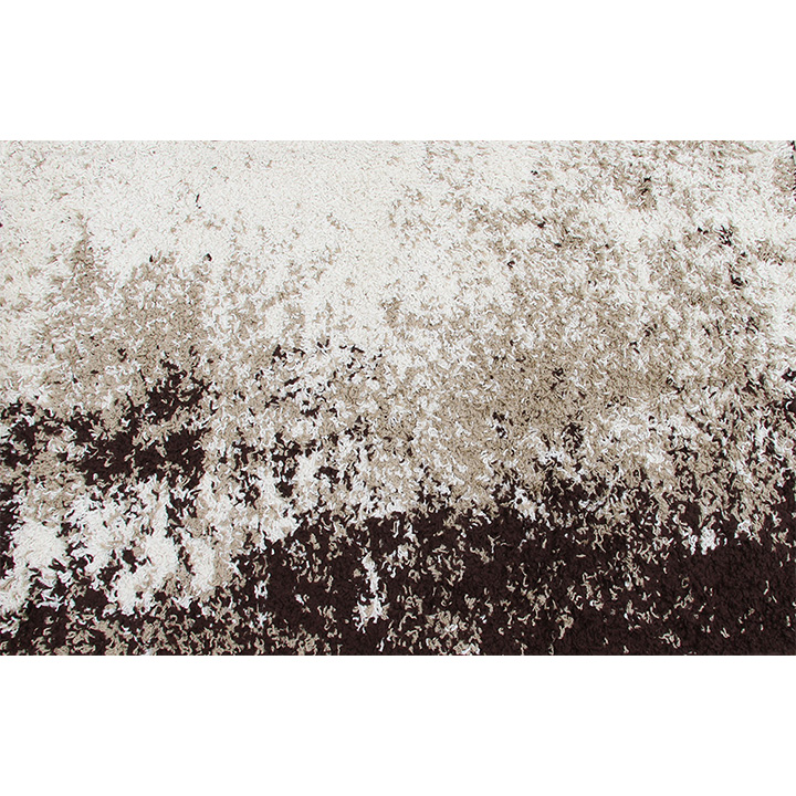 Koberec, krémová/hnedá, 133x190, LYNTON