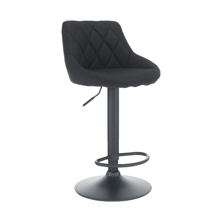 Barová stolička, látka čierna/čierna, TERKAN