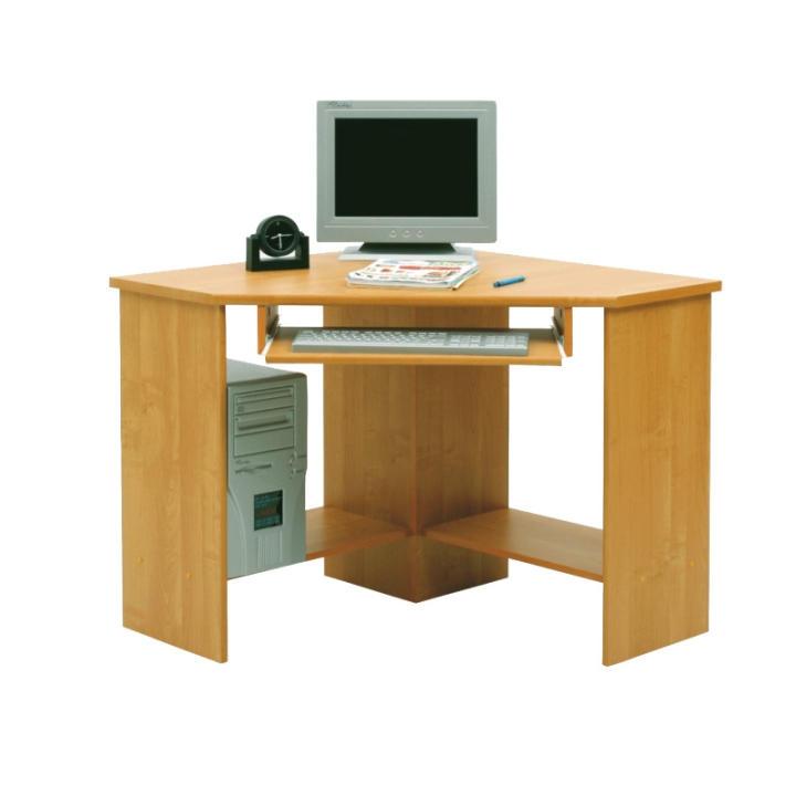 PC stolík, rohový, buk, B3 New, na bielom pozadí