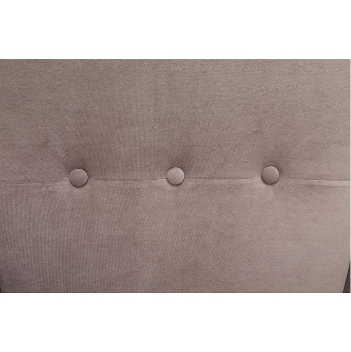 Kreslo ušiak, látka/drevo, béžovosivá/buk, RUFINO, detail potah
