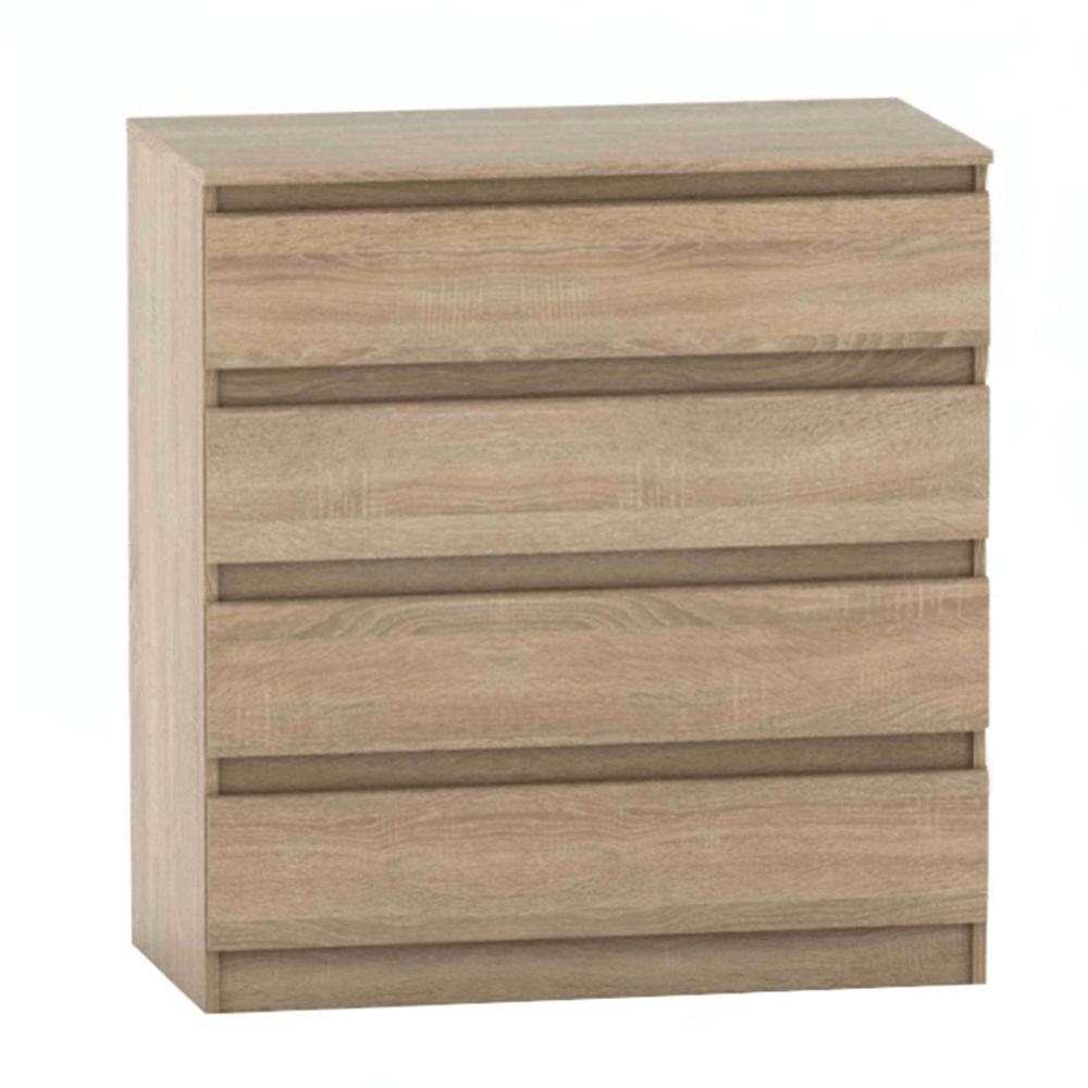 Comodă cu 4 sertare, stejar sonoma, HANY NEW 004