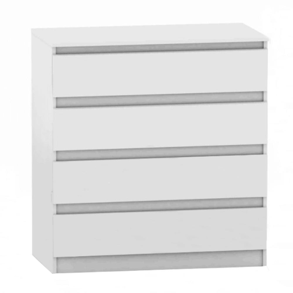 Comodă cu 4 sertare, albă, HANY NEW 004