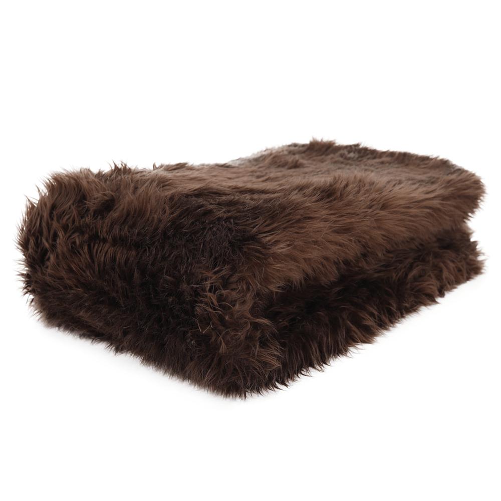 Pătură de blană, maro, 150x170, EBONA TIPUL 3