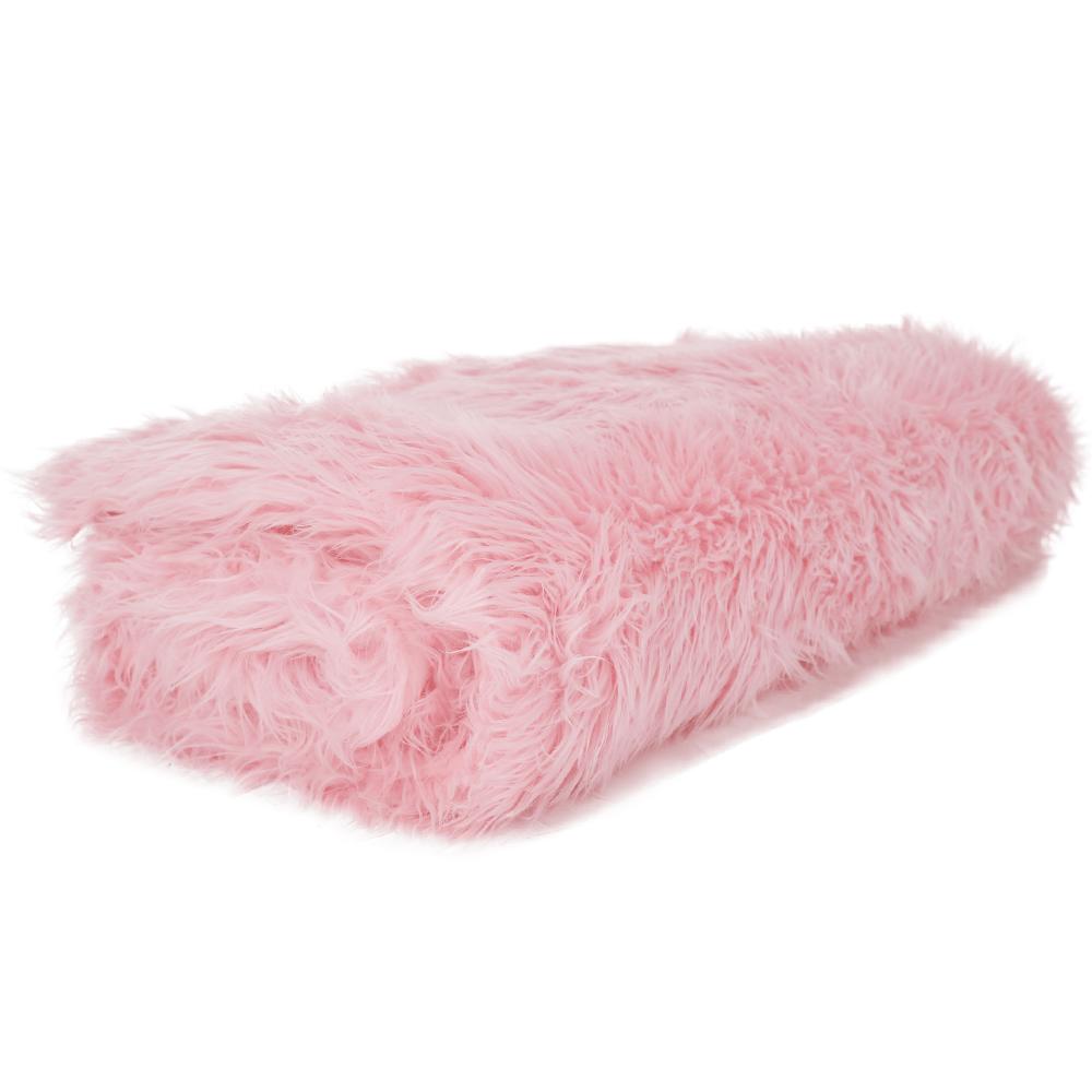 Szőrmés pléd, rózsaszín, 150x170, EBONA TYP 7