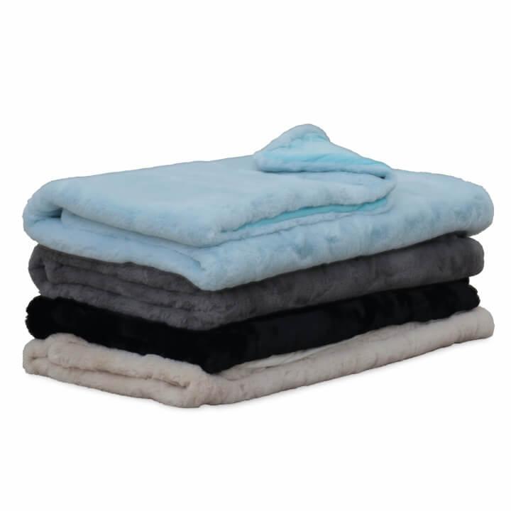 Kožušinová deka, béžová, 150x180, RABITA TYP 2, dostupné farby