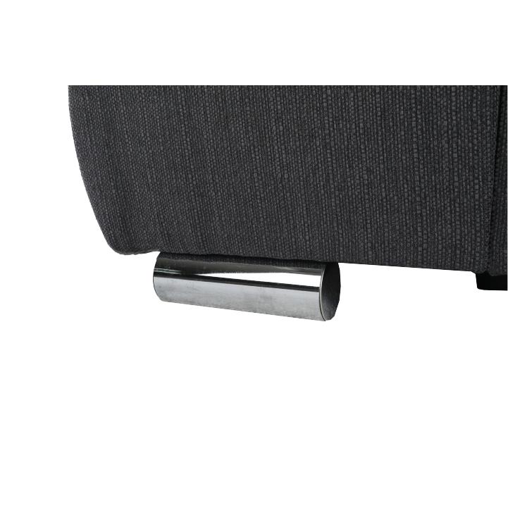 Celočalúnená, rohová, sedacia súprava , béžová/ hnedosivá látka, pravá, detail na nožičky, LIMENA ROH P