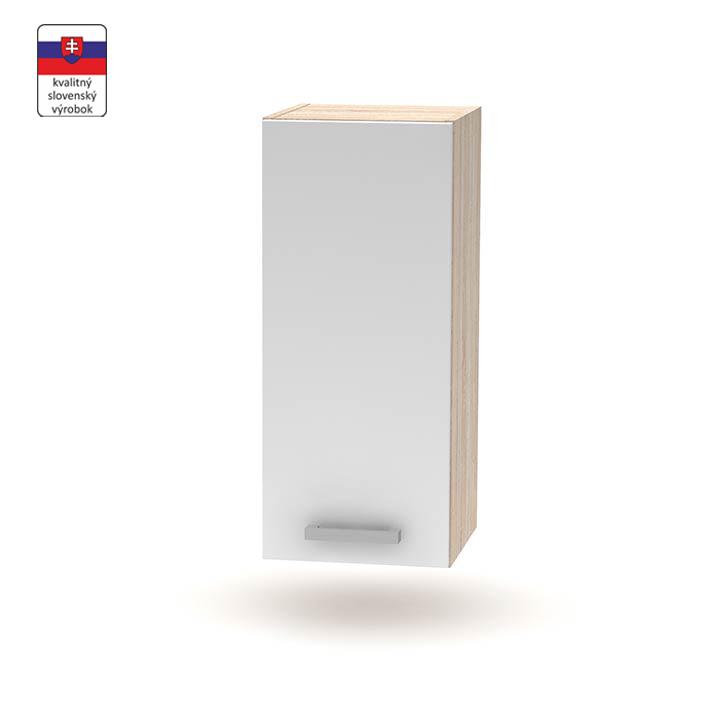 Horná skrinka 30 1DV, biela/dub sonoma, NOVA PLUS NOPL-002-OH