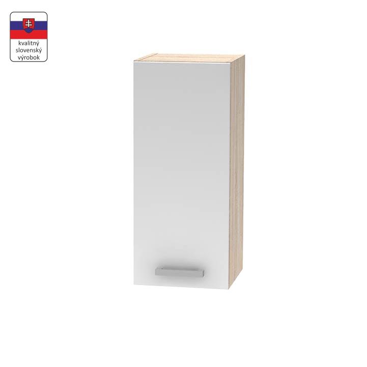 Horná skrinka 30 1DV, biela/dub sonoma, NOVA PLUS NOPL-002-OH, na bielom pozadí