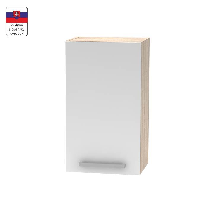 Horná skrinka 40 1DV, biela/dub sonoma, NOVA PLUS NOPL-005-OH, na bielom pozadí