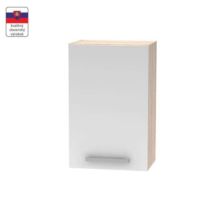 Horná skrinka 45 1DV, dub sonoma/biela,  DTD laminovaná, NOPL-024-OH, na bielom pozadí