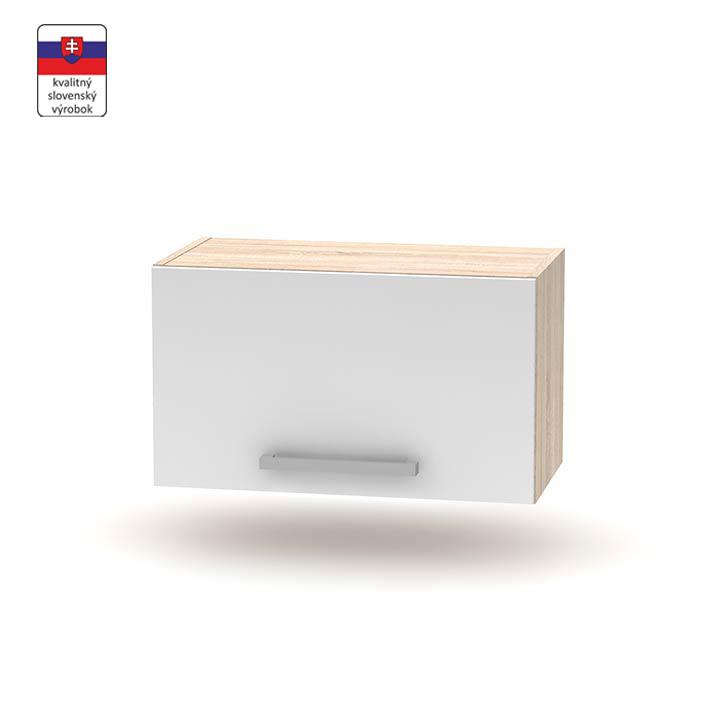 Horná digestorová skrinka 1DV, dub sonoma/biela, DTD laminovaná, NOPL-011-OH
