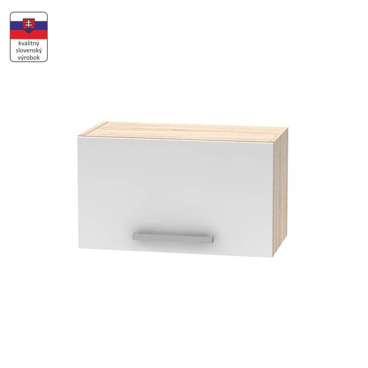 Horná digestorová skrinka 1DV, dub sonoma/biela, DTD laminovaná, NOPL-011-OH, na bielom pozadí